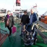 På båten