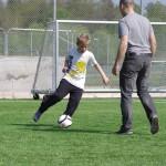 Fotboll med pappa
